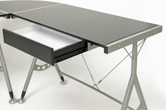Baxton Studio Elburn L-Shaped Computer Desk