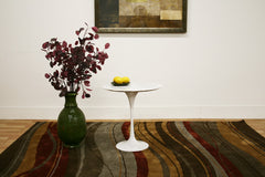 Baxton Studio Immer White Marble End Table