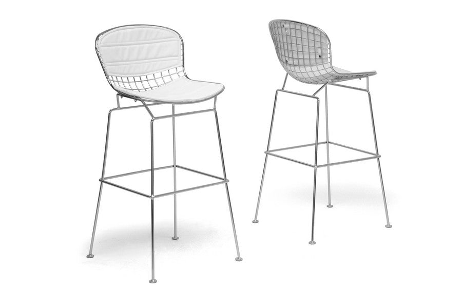 Baxton Studio Tolland Bar Stool in Set of 2