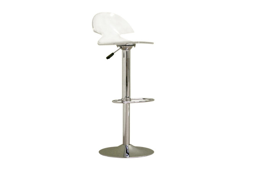 Baxton Studio Clear Acrylic Adjustable Stool