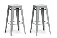 Baxton Studio French Bar Stool in Set of 2