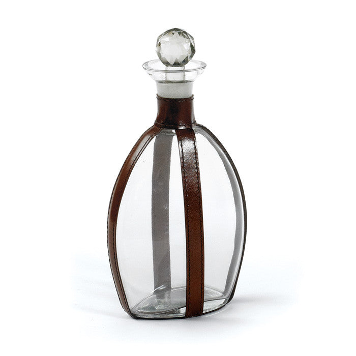 Quogue Decanter with Leather Strapping
