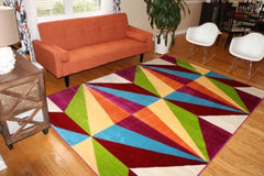 Floral Contemporary Modern Area Rug