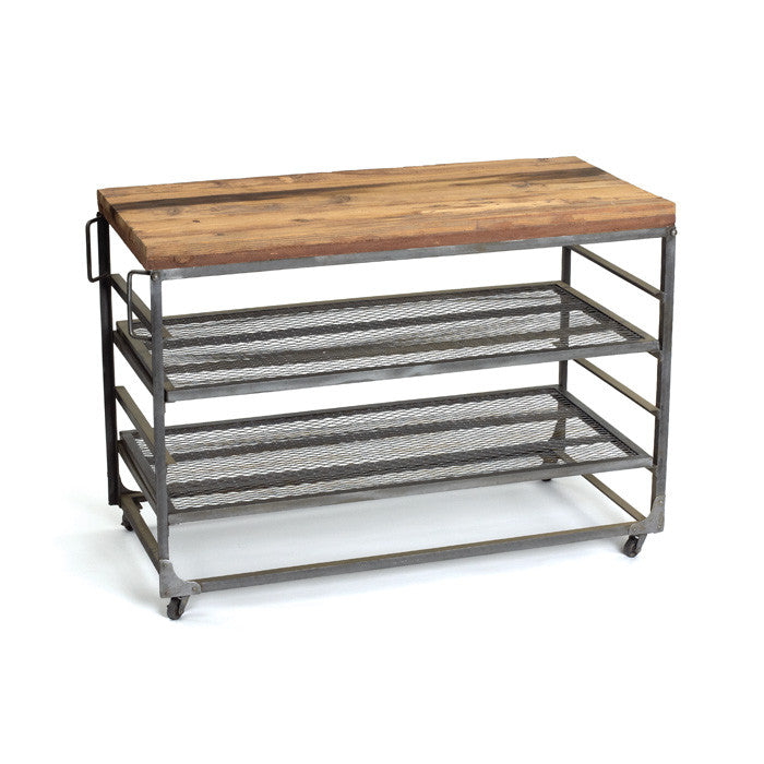 Easton Table with Vintage Industrial Finish