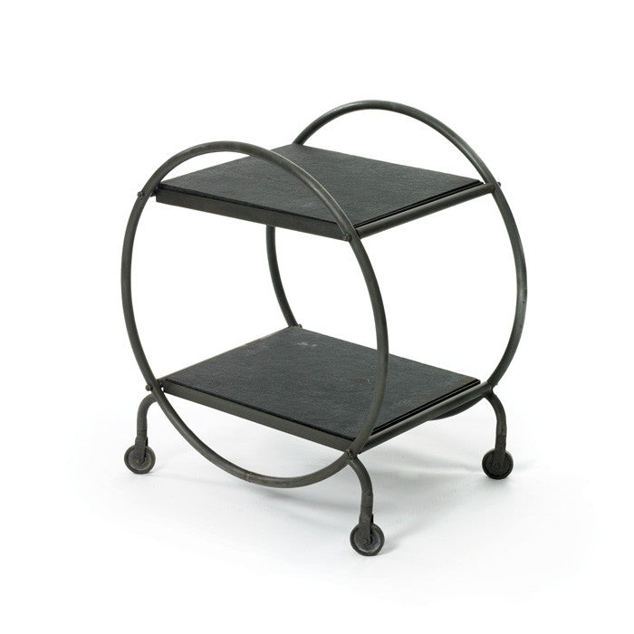Black Iron Hoop Table