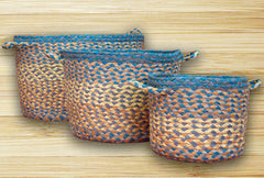 Aqua Blue Utility Baskets In Different Sizes