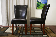 Baxton Studio Sofi Dark Brown Dining Chair Set of 2