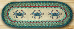 Blue Crab Oval Patch Runner In Different Sizes
