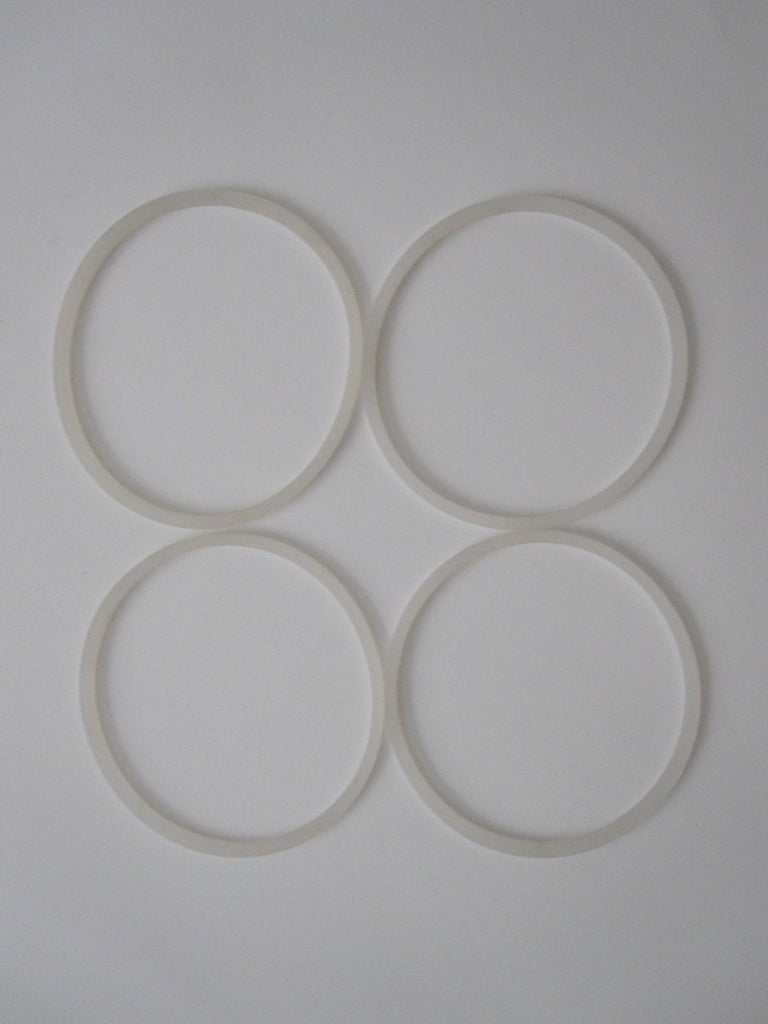 New 4 Replacement Gaskets for Magic Bullet Flat Blade Cross Blades