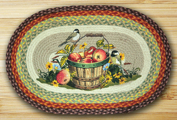 Apple Chickadee Oval Patch Rugs