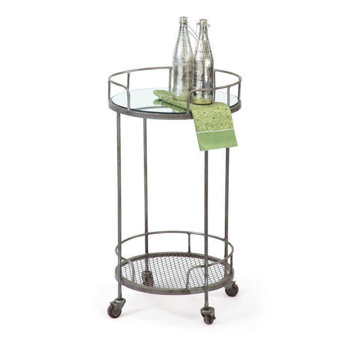 Steel with Mirrored Top Starke Table