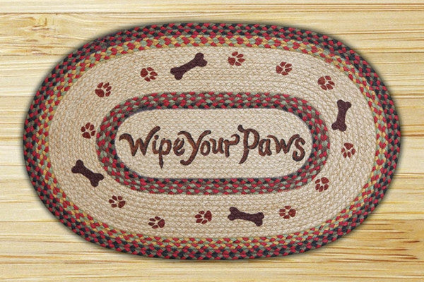 Wipe Your Paws Oval Patch Rug