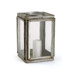 Nickel Plated Railway Lantern Box