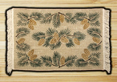 Pinecone Wicker Weave Rug