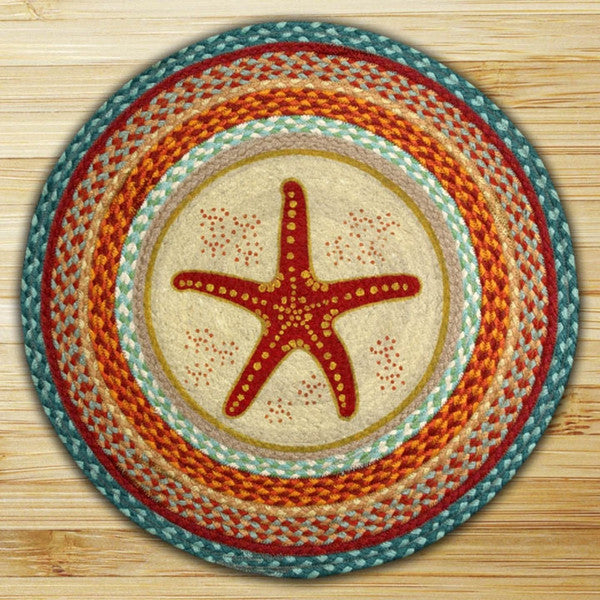 Star Fish Round Patch Rug