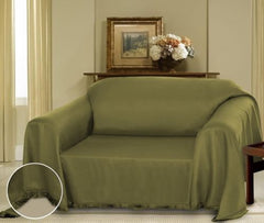 Sage Cielo Jacquard Furniture Throw Cover