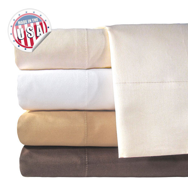 800TC KING SOLID PILLOWCASE PAIR IN IVORY COLOR