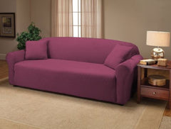 Purple Jersey Sofa Stretch Slipcover