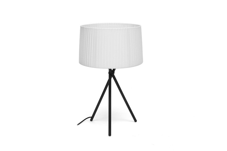 Baxton Studio Throop White Modern Tripod Table Lamp