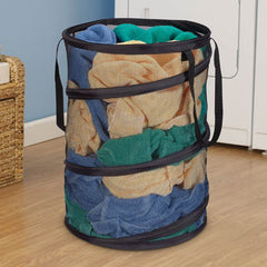 Black Pop-Up Laundry Hamper