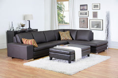Baxton Studio Sandusky Full Leather Cocktail Ottoman
