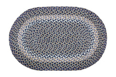 Blue/Natural Braided Rug In Different Sizes and Shapes