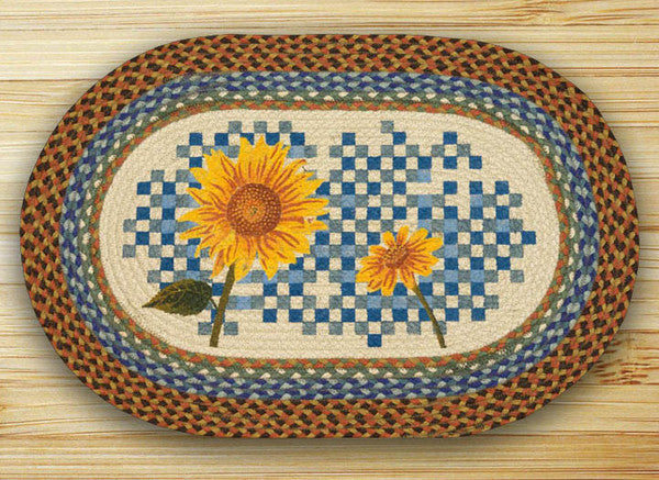 Heirloom Sunflower Oval Patch Rug