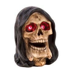 Lighted Grim Reaper Head Figurine