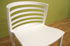 Baxton Studio Ofilia White Plastic Chair Set of Two