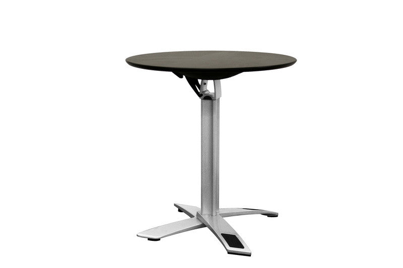 Baxton Studio Yang Black / Silver Folding Event Table in Standard Height