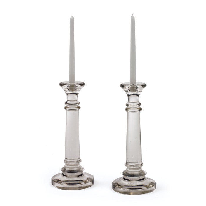 Pair of Glass Highlight Candlesticks