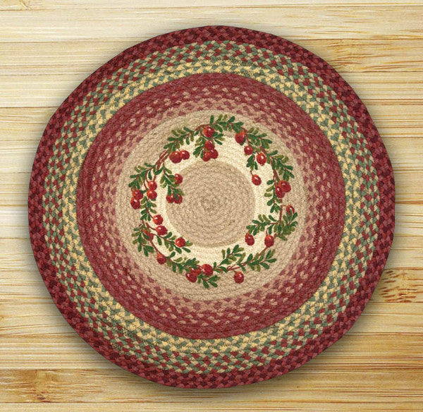 Cranberries Round Patch Rug