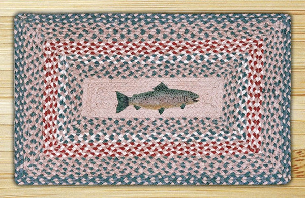 Fish Print Patch Rug