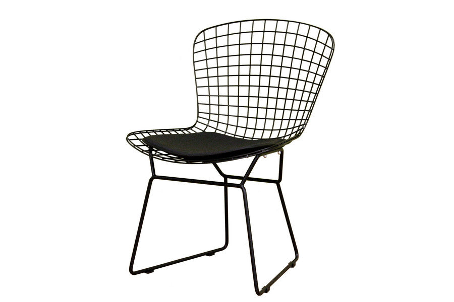 Baxton Studio Bertoia Black Style Wire Side Chair
