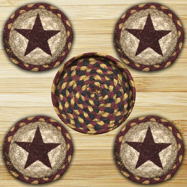 Beautiful Burgundy Star Coasters