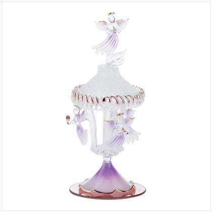 Spun Glass Angel Figurine