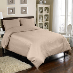 300TC 4 PC DUVET SET IN TAUPE