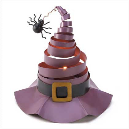 Wacky Witch Hat Candle Decor