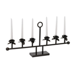 Metal Flower Candelabra