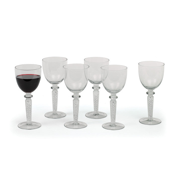 "Coil ""Red Wine"" Goblets-Set of Six"