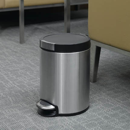 EKO Five Liter Stainless Steel Step Bin