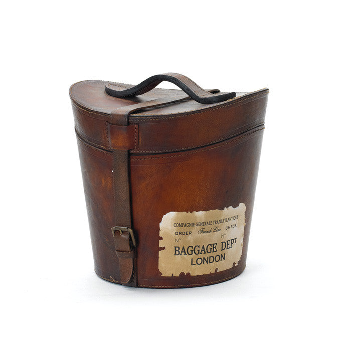 Leather Madame Hatbox