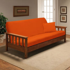 Orange Jersey Chair Stretch Slipcover, Couch Cover