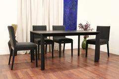 Baxton Studio Moira Black Wood Modern Dining Table