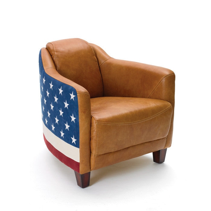 Bipartisan Chair with Patriotic Finish