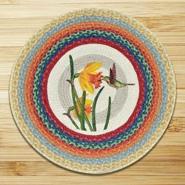 Hummingbird Round Patch Rug