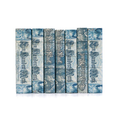 Linear Foot of Blue European Beaux Arts Books