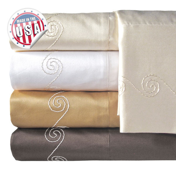 800TC SWIRL PILLOWCASE PAIR IN DIFFERENT COLORS AND SIZES