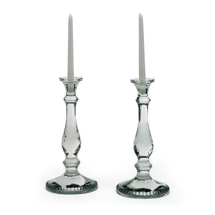 Pair Of Glass Monaco Candlesticks