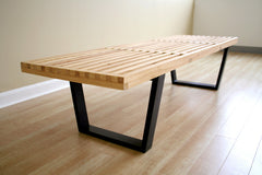 Baxton Studio Nelson Style Wooden Bench